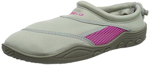 BECO Badeschuhe / Surfschuhe für Damen und Herren grau/pink 38