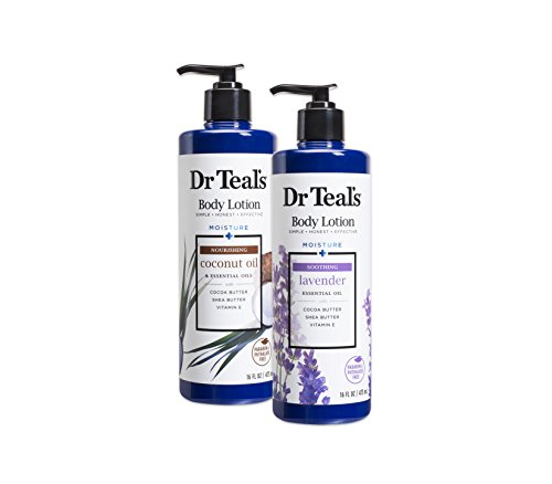Dr Teal's Body Lotion - Coconut and Lavender, 2 Count - 32oz Total