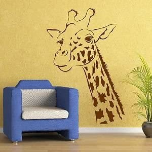 Transfer Graphic Decal Decor Stencil Large Art Sticker UK Giraffe Wall Stickers