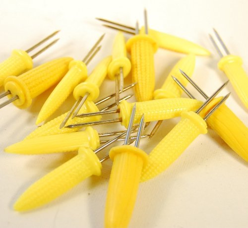 Pack Corn Cob Holders Skewers