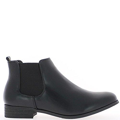 Stiefel niedrig schwarze Frau auf 2,5 cm Absatz