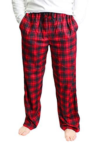 Varsity Men's Printed Microfleece Pajama Pant, Red Plaid, Small ()