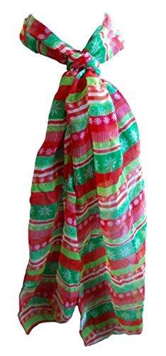 Christmas House Sheer Fashion Scarf (Holiday - Holiday Stripe Scarf