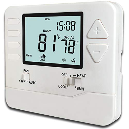 Heagstat H725 5-1-1-Day Programmable Heat Pump Thermostat, 2 Heat/1 Cool, with 4.5 sq. inch Display ()