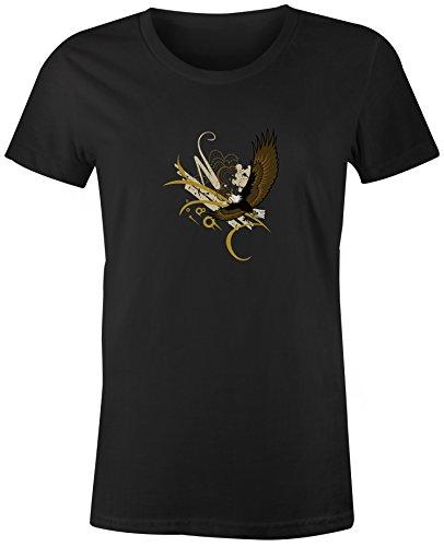 School Eagles Women Shirts (You've Got Shirt Eagles High School Mascot - Black - Large - Short Sleeve - Womens -T-Shirt)
