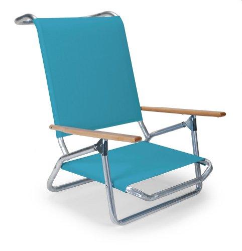 - Telescope Casual Light and Easy Low Boy Folding Beach Arm Chair, Aqua