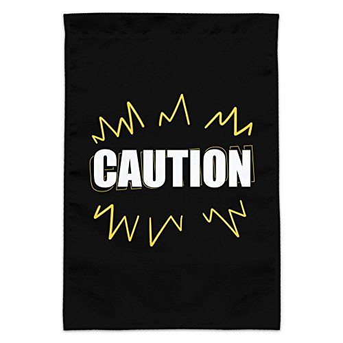 Graphics and More Caution Warning Garden Yard Flag (Pole Not Included)