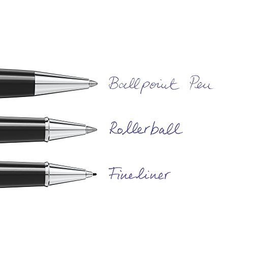 Montblanc Ballpoint Pen Refills (B) Mystery Black 116191 / Refill Cartridges with a Broad Tip for Montblanc Ball Pens / 2 x Black Ballpoint Refills Photo #8