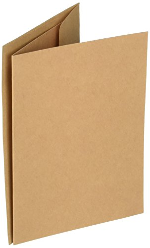 Darice Coordination's A2 Size Cards and Envelopes (Set of 50), Kraft -