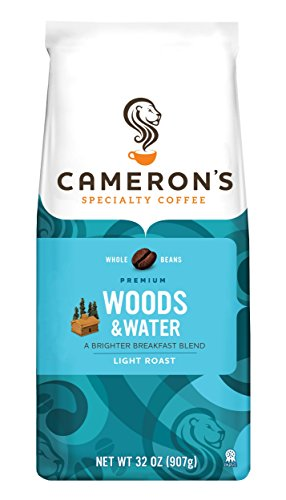 Cameron's Specialty Coffee, Woods and Water, 32 Ounce, Whole Bean, Bag