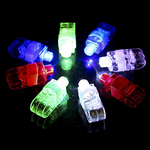 SUNMALL Rave LED Finger Flashlights, 90 pcs Magic Glow Finger Lights Finger Beam Lights Bulk Light Up Rings Toys Party Favors for Kids (90pcs Finger Lights)]()