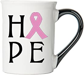 Cancer Awareness Mug; Hope; Cancer Awareness Coffee Cup By Tumbleweed