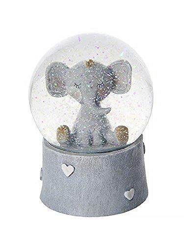 Boîtes à musique boule à neige musicale éléphant idéal pour une baby shower ou un baptême - Cadeau pour bébé garçon ou fille mousehouse gifts