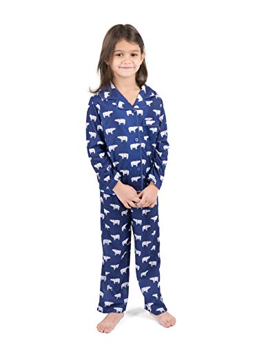 Leveret Kids Pajamas Flannel Pajamas Boys & Girls 2 Piece Christmas Pajama Set Polar Bears 6 Years]()