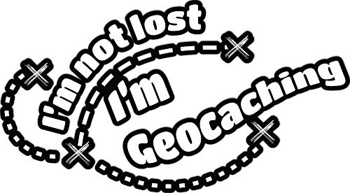 4 All Times Im Not Lost Im Geocaching Automotive Car Decal for Cars, Trucks, Laptops (8.0 W x 4.4 H)