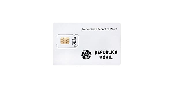 Tarjeta SIM de PREPAGO de República Móvil -3 en 1-10 Llamadas ...