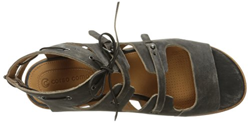 Tiki Black Sandal Corso Leather Worn Flat Women's Como Eqwgxv1p