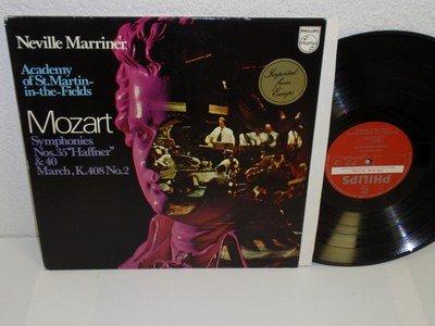 Price comparison product image MARRINER Mozart 35&40 Haffner K 408 No.2 LP Philips 6500 162 NM SAMPLE Holland