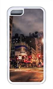 iPhone 5c Case, iPhone 5c Cases -Broadway Street TPU Rubber Soft Case Back Cover for iPhone 5C¡§C White