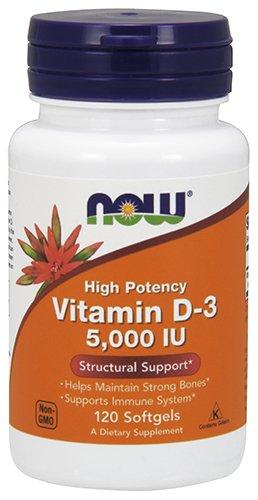 Now Supplements, Vitamin D-3 5000 IU, 120 Softgels