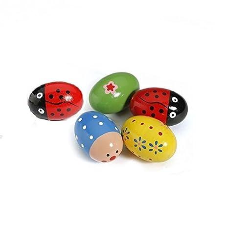 1PCS Holz Egg Maracas Musik Percussion Baby Kids Kinder Spielzeug Egg Shaker Kids Baby Holz Ei Maracas Shakers Music Percussion Spielzeug Zuf/ällige Farbe von Demarkt