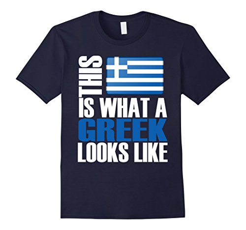 Men's This Is What A Greek Looks Like Funny Greece Gift T-Shirt Large Navy
