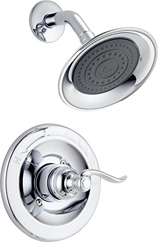 (Delta Faucet Windemere Single-Function Shower Trim Kit with Single-Spray Shower Head, Chrome BT14296 (Valve Not Included))