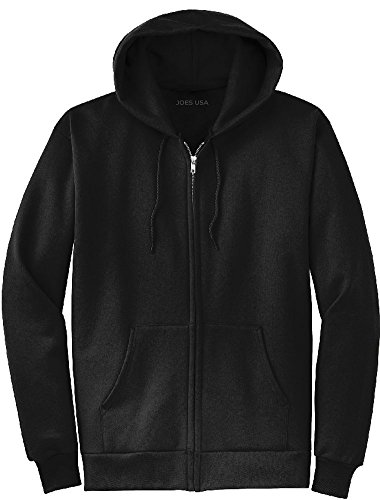 Joe's USA tm Full Zipper Hoodies - Hooded Sweatshirts Size 2XL, Black - Hooded Sweatshirt With Zipper