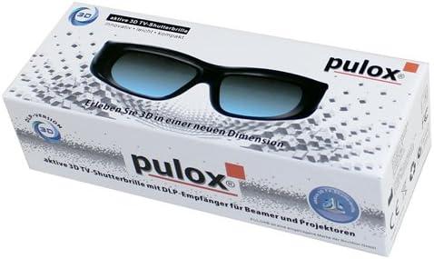 Pulox Gafas 3D - Gafas activas 3D Universal teles DLP y ...