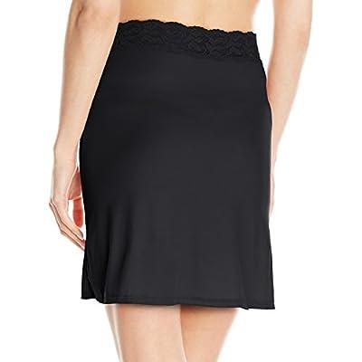 Vassarette Women's Adjustable Waist Half Slip 11073, Black Sable-18 inch, Medium