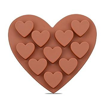 Frmarche Molde de Silicona para Chocolate, con Forma de corazón: Amazon.es: Hogar
