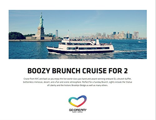 Boozy Brunch Jazz Cruise for Two in New York Experience Gift Card NYC - GO DREAM - Sent in a Gift Package