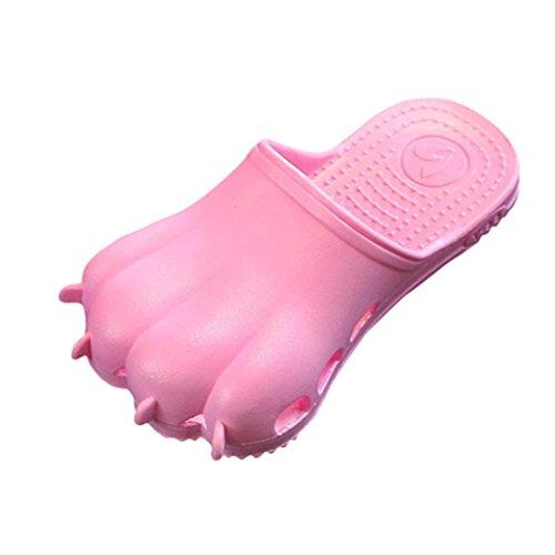 Transer Kinder Slippers, Cartoon Pfote Loch Infant Unisex Mädchen Jungen Flip Flops Hausschuhe Pink