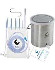 TopQuaFocus Anal Cleaning Bucket Kit For Men Women Stainless Steel Bucket Colonic