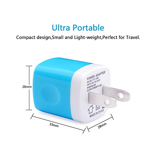 Wall Charger, NonoUV 3-Pack 1Amp Universal Home Travel Charger Plug