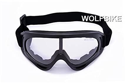 12790fab72 Image Unavailable. Image not available for. Color  WOLFBIKE Super Black  Motorcycle Cycling Bicycle Bike ATV Motocross Ski Snowboard Off-road  Goggles FITS