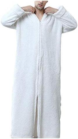 パジャマ CHJMJP パジャマメンズ秋と冬のバスローブ寝間着フランネル肥厚ロングナイトガウンホームページサービスバスローブ (Color : 02, Size : XL)