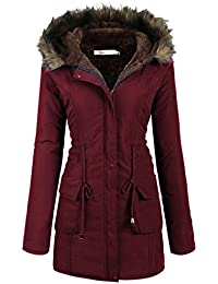 Womens Military Hooded Warm Winter Faux Fur Lined Parkas...
