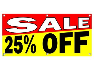Sale 25% Percent Off - Store Retail Business Sign Banner