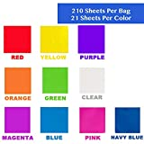 210 pcs Cello Sheets 8 x 8 in
