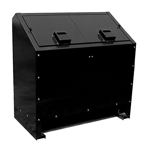 Paris 68 Gal. Metal Animal Proof Trash Can In Black (Bear Can Trash Proof)