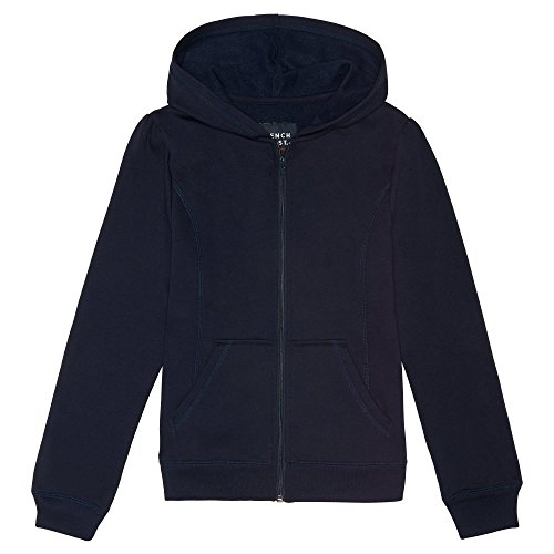 (French Toast Girls' Big' Fleece Hoodie Navy M (7/8))
