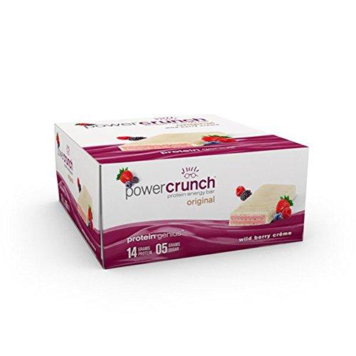 Berry Creme (BNRG, Power Crunch Protein Energy Bar, Wild Berry Creme, 12 Bars, 1.4 oz)