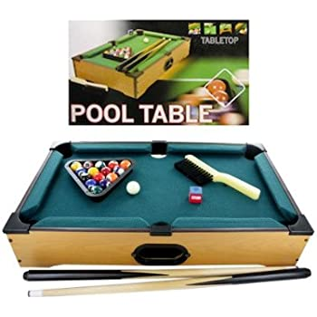 Bulk Buys OB444 Tabletop Pool Table, Brown, Green