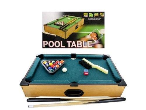 bulk buys OB444 Tabletop Pool Table, Brown, Green by bulk buys
