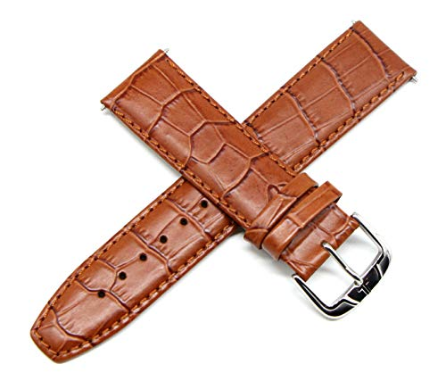 Men Lemans Jacques Watches - Jacques Lemans 22MM Alligator Grain Genuine Leather Watch Strap 8