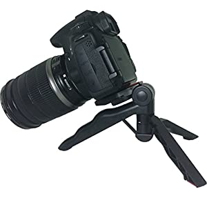 """Mini Tripod Table Stand with pads and Soft Pistol Grip for DSLR 1/4"""" Cameras weighing up to 2.5lbs"""