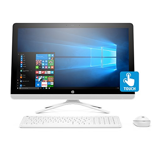 HP 24-inch All-in-One Computer, Intel Core i3-7100U, 4GB RAM, 1TB hard drive, Windows 10 (24-g230, White)