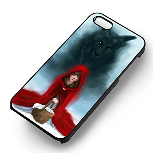 Little Red Riding Hood Wolf pour Coque Iphone 6 et Coque Iphone 6s Case (Noir Boîtier en plastique dur) D8H5SQ