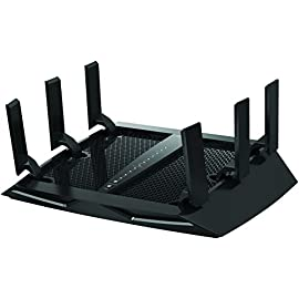NETGEAR Nighthawk X6 AC3000 Dual Band Smart WiFi Router, Gigabit Ethernet, Compatible with Amazon Echo/Alexa (R7900) 4 3.0Gbps—Fast combined WiFi speed for uninterrupted streaming Tri-Band MU-MIMO—Simultaneous streaming to more devices 1.8GHz dual-core processor delivers lag-free gaming